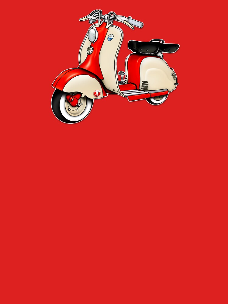 Scooter T-shirts Art: 1955 Lambretta LD 150 Reb and white by yj8dsk57