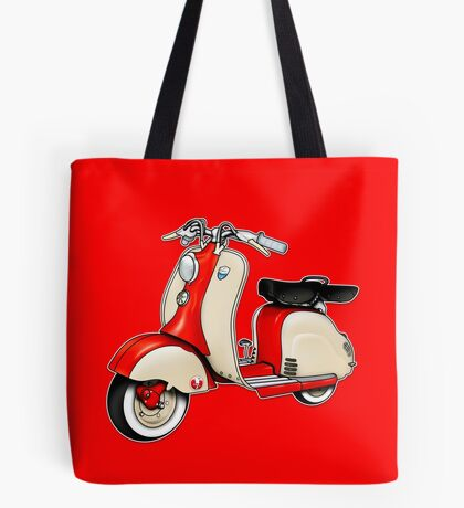 Scooter T-shirts Art: 1955 Lambretta LD 150 Reb and white Tote Bag