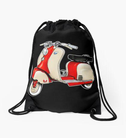 Scooter T-shirts Art: 1955 Lambretta LD 150 Reb and white Drawstring Bag