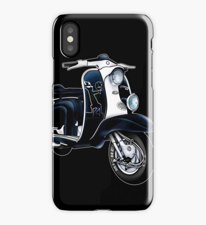 Scooter T-shirts Art: Lambretta Black Devil TV iPhone Case