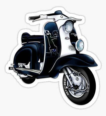 Scooter T-shirts Art: Lambretta Black Devil TV Sticker