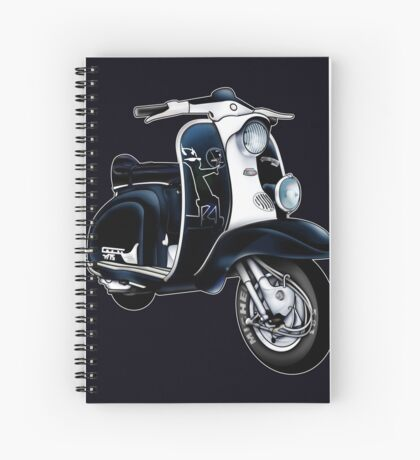 Scooter T-shirts Art: Lambretta Black Devil TV Spiral Notebook