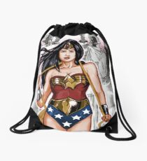 The Most Powerful Female Super Hero Drawstring Bag