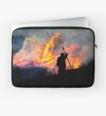 Heather Burning - Yorkshire Dales Laptop Sleeve