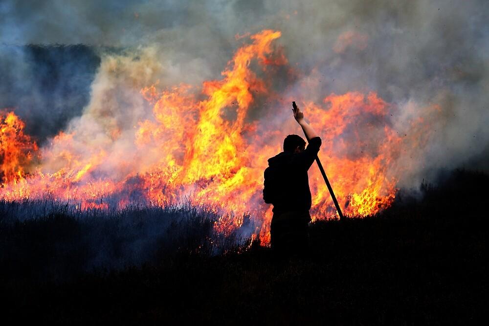 Heather Burning - Yorkshire Dales by Graham Geldard