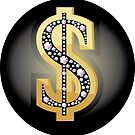 Dollar-Symbol in Diamanten von AnnArtshock