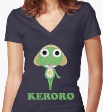 Keroro Gunsou reporting Women's Fitted V-Neck T-Shirt