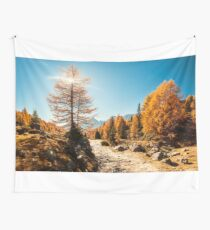 Autumn trekking in the alpine Pusteria valley Wall Tapestry