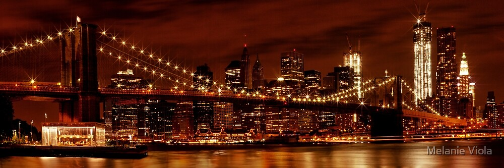 Night-Skyline NEW YORK CITY by Melanie Viola