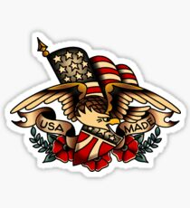USA Made Patriotic Eagle Sticker