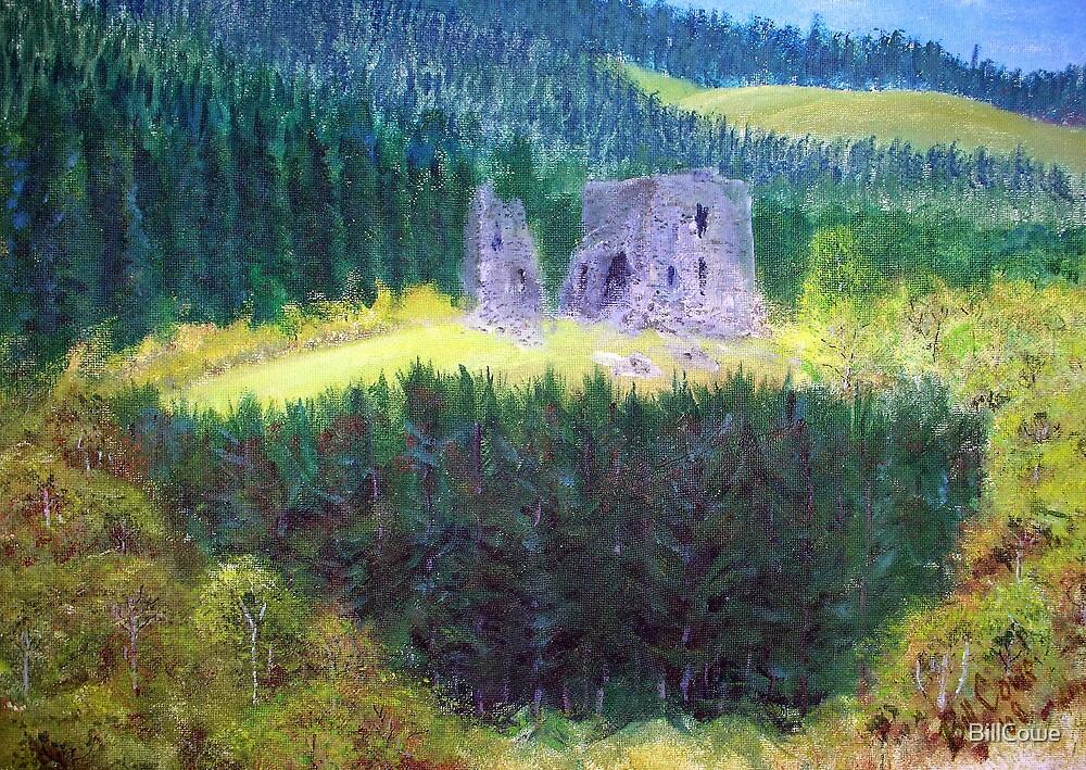 Elibank Castle, Tweed Valley below Walkerburn  by BillCowe