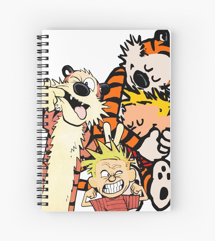 Cuadernos de espiral «Calvin Hobbes Abrazo» de howardstein3rd ...