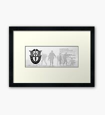 Special Forces Creed Framed Print