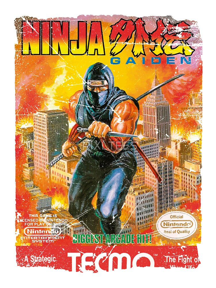 Ninja Gaiden Nes Cover Baby One Piece By Pixltees Redbubble