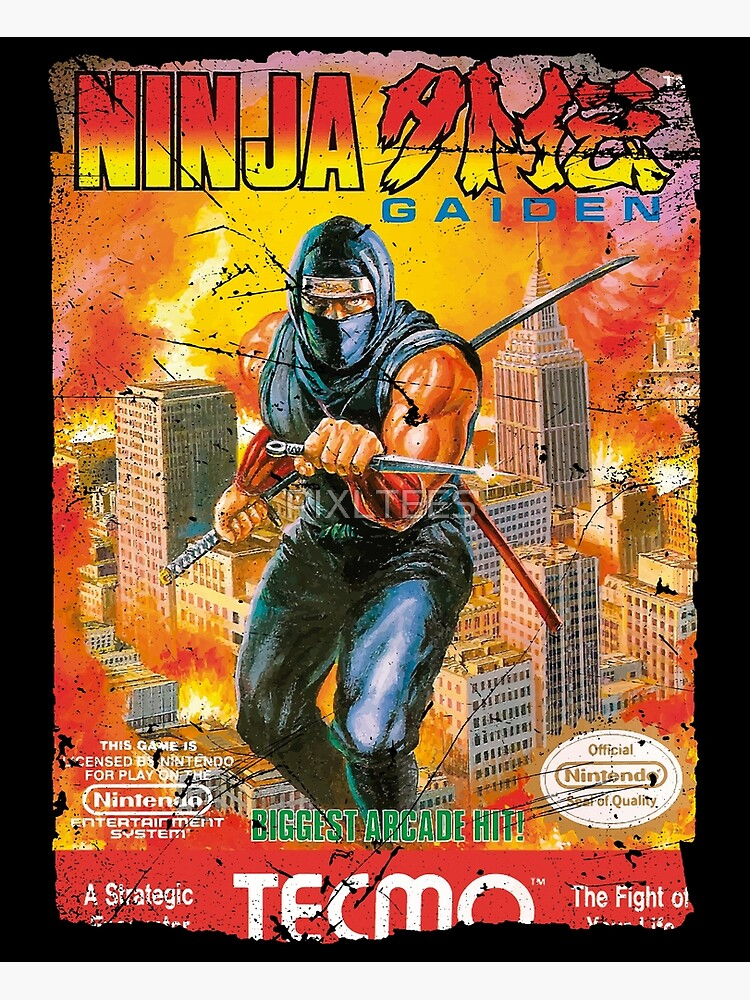 Ninja Gaiden Nes Cover Greeting Card By Pixltees Redbubble