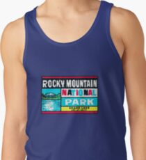 Rocky Mountain National Park Grand Lake and Mt. Baldy Vintage Decal Tank Top