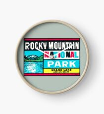 Rocky Mountain National Park Grand Lake and Mt. Baldy Vintage Decal Clock