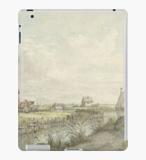 River landscape with sketching cartoonist between huts, Jan Hulswit, 1776 - 1822 iPad Case/Skin