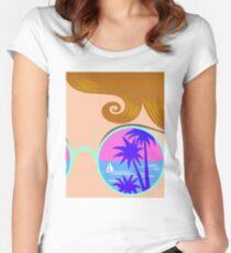 N I C E   à la  Vaporwave Women's Fitted Scoop T-Shirt
