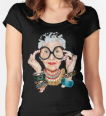 iris apfel - Fashion is ultimately a form of self-expression. That's why I love trying out new things. Women's Fitted Scoop T-Shirt