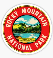 Rocky Mountain National Park Colorado Vintage Decal - Longs Peak Sticker