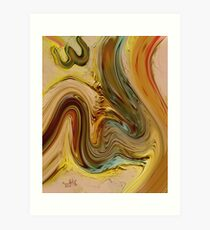 Allah Name Abstract Painting Art Print