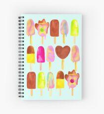 Aussie Ice Creams - Blue Spiral Notebook