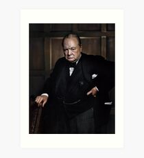 Winston Churchill 1941 by Yousuf Karsh Art Print