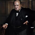 Winston Churchill 1941 by Yousuf Karsh by Marina Amaral