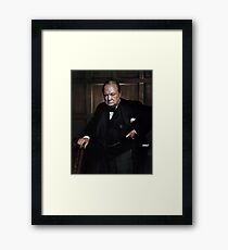 Winston Churchill 1941 by Yousuf Karsh Framed Print