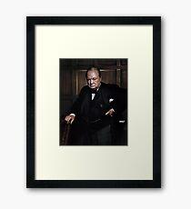 Winston Churchill 1941 by Yousuf Karsh Framed Print