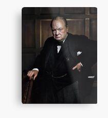 Winston Churchill 1941 von Yousuf Karsh Metalldruck