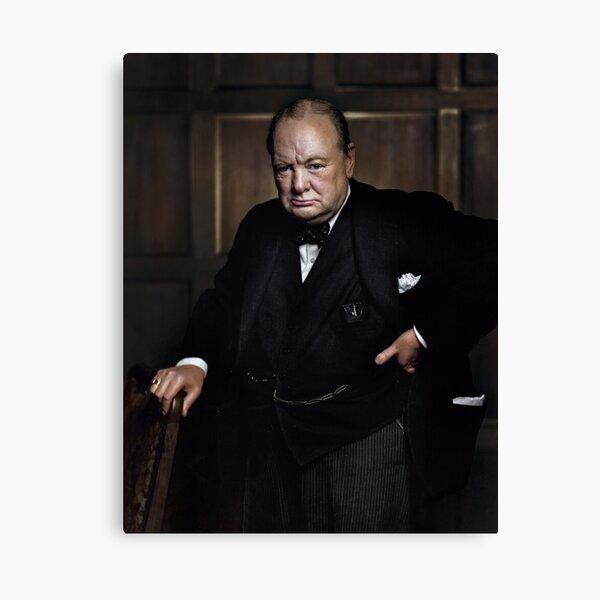 Winston Churchill 1941 by Yousuf Karsh Canvas Print