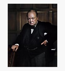 Winston Churchill 1941 by Yousuf Karsh Photographic Print