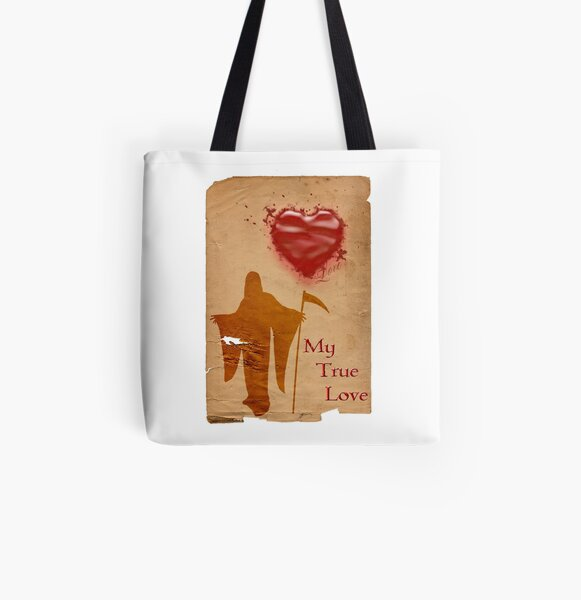 My True Love All Over Print Tote Bag