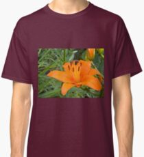 Orange Lily in the garden 2 Classic T-Shirt