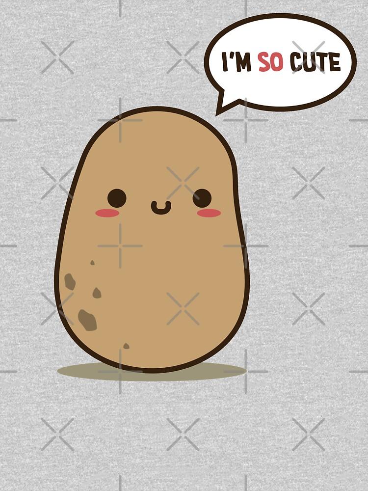 I'm so cute potato by clgtart