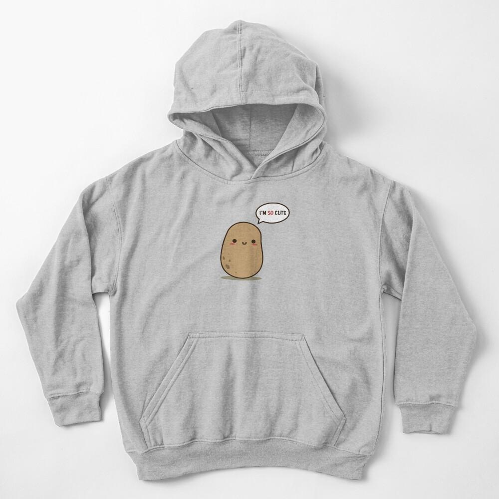 I'm so cute potato Kids Pullover Hoodie