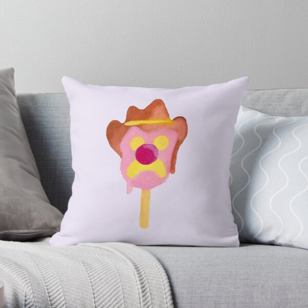 Bubble O Bill (Pink Nose) - Purple Throw Pillow
