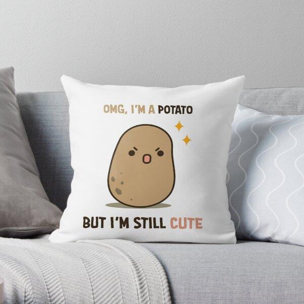 Cute potato is cute Throw Pillow