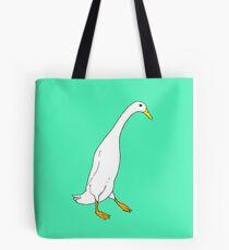 White Runner Duck Tote Bag