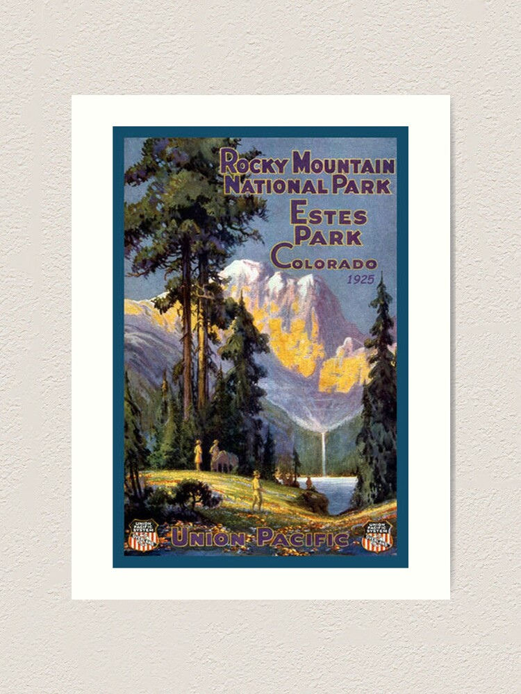Rocky Mountain National Park Estes Park Colorado Vintage Decal Art Print By Melikeytees Redbubble