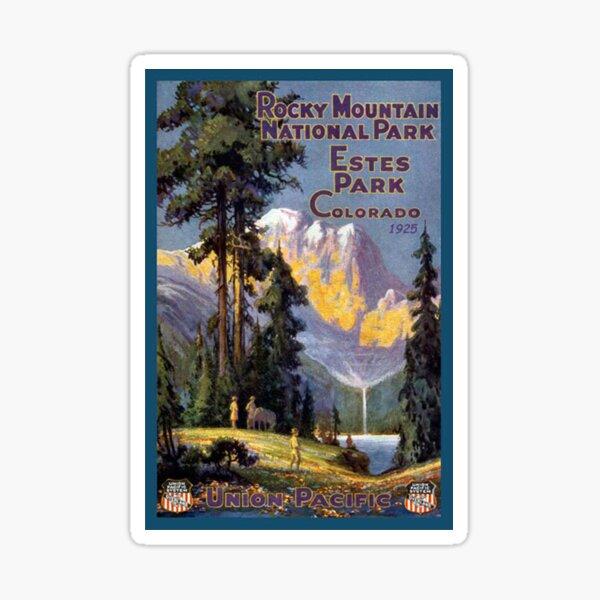Rocky Mountain National Park Estes Park Colorado Vintage Decal Sticker