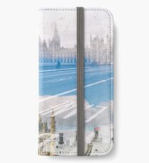 City Art Big Ben & Westminster Bridge iPhone Flip-Case/Hülle/Skin