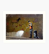 Council Worker by Banksy Art Print