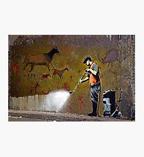 Ratarbeiter von Banksy Fotodruck