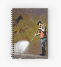 Council Worker by Banksy Spiral Notebook
