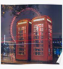 Telephone london Poster