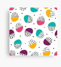 Brush colorful unusual modern teen Canvas Print