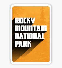Vintage Retro Rocky Mountain National Park Travel Decal Sticker